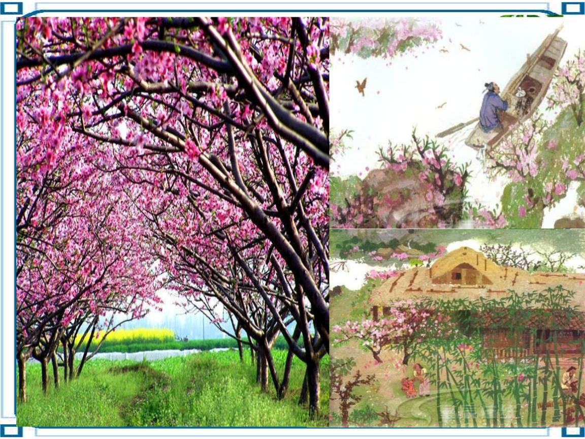 榆柳荫后檐,桃李罗堂前榆树,柳树遮掩着后檐,桃树,李树罗列在堂前.