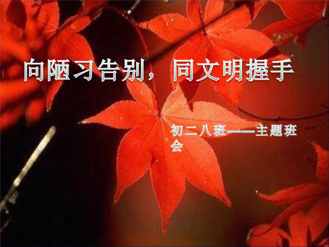 告别陋习走向文明(班会)及答案.ppt图片