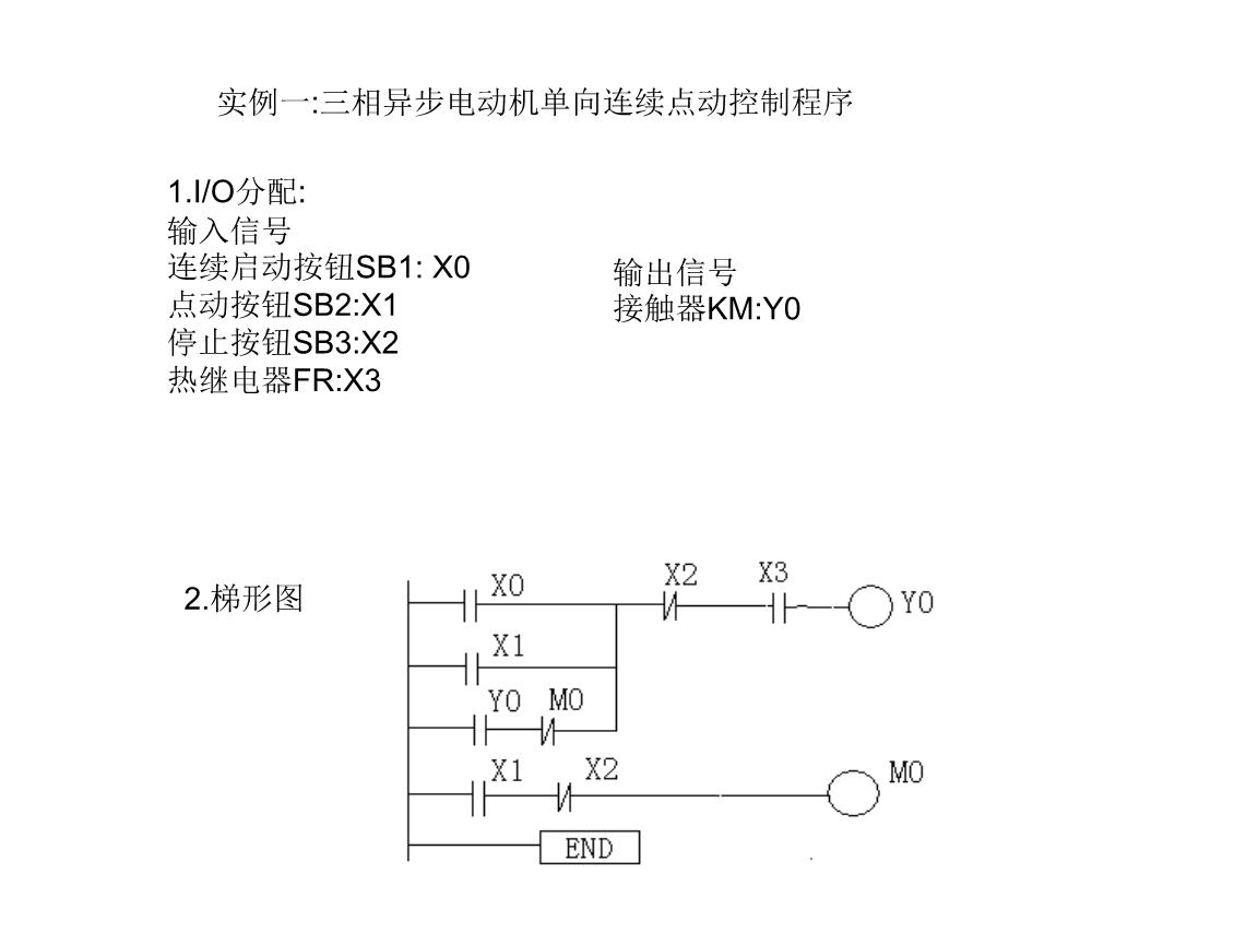 画出plc接线图,设计梯形图练习二:设计一个控制电路,有三台电机,用一