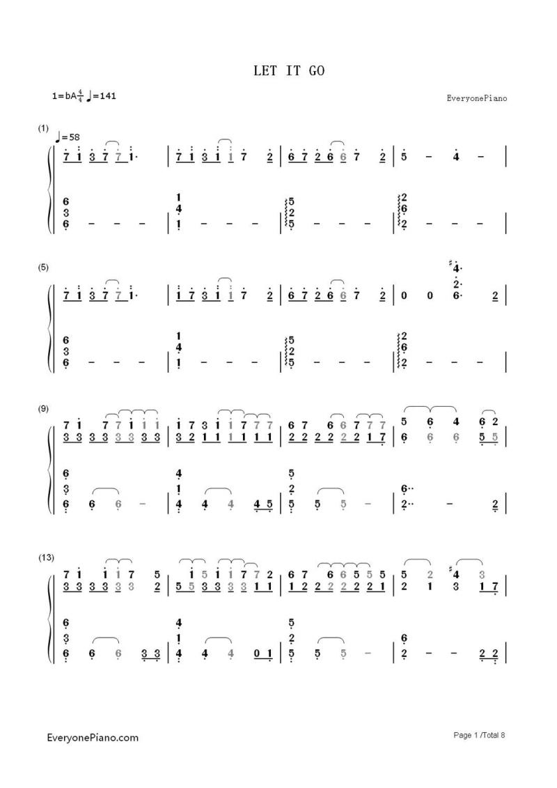 冰雪奇缘 let it go (钢琴简谱).pdf