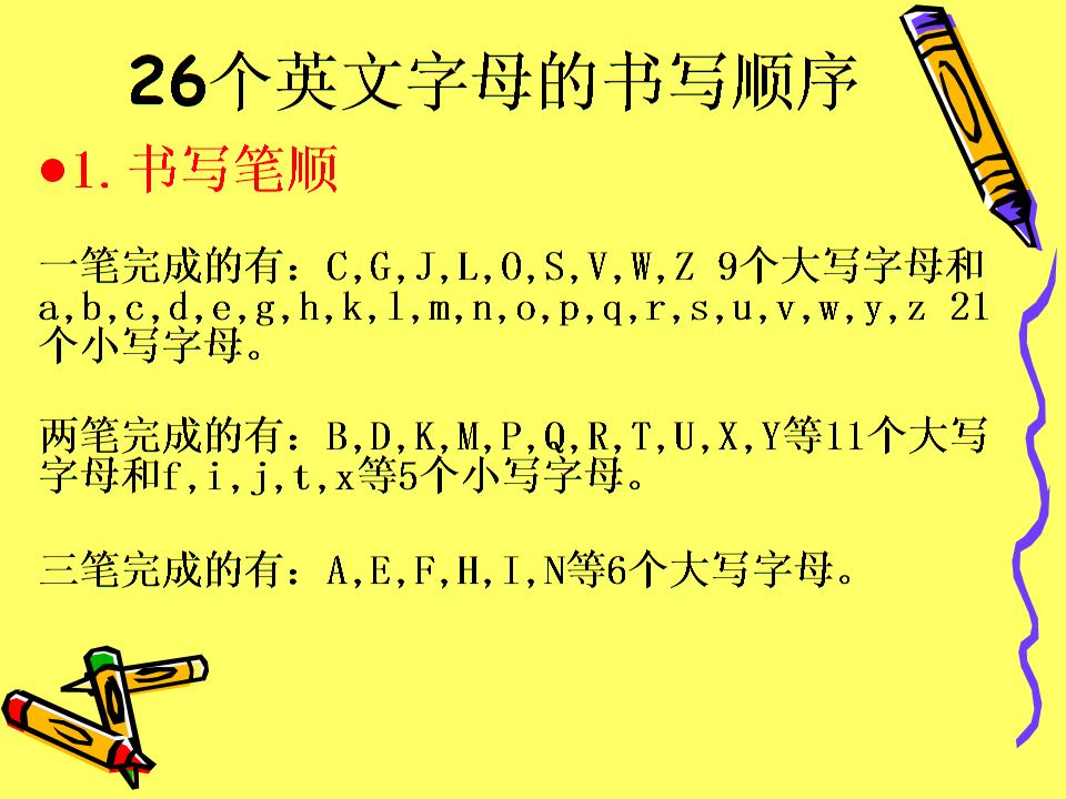 拼音m笔画顺序-英文字母手写体笔顺及占格.ppt
