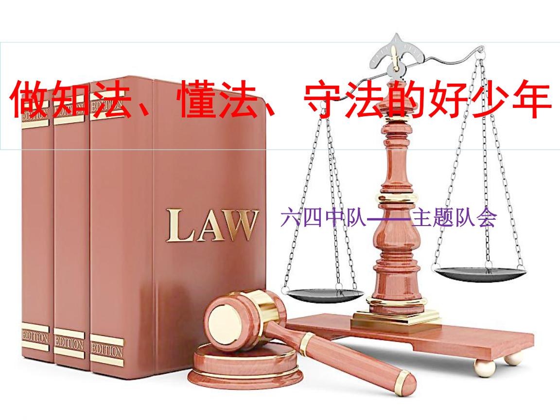 做知法、懂法、守法的好少年PPT.pptx