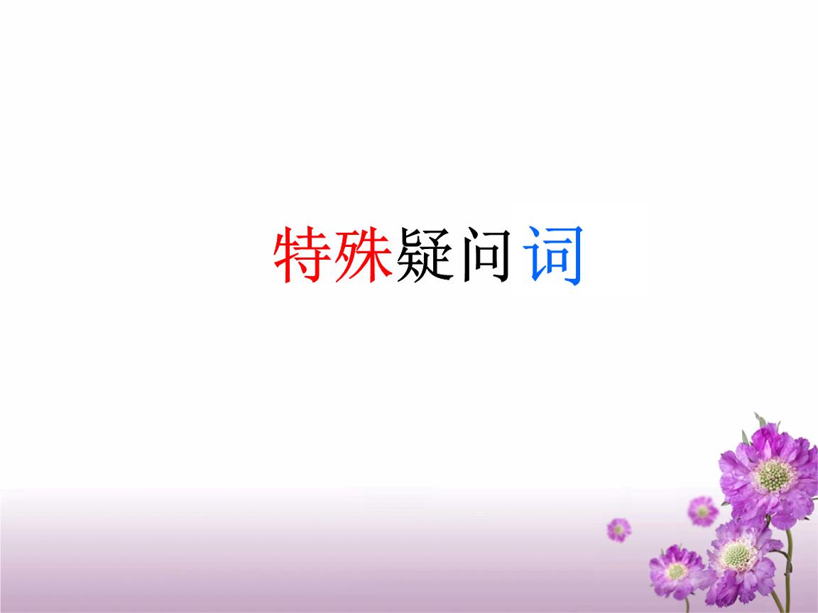 特殊疑问词和特殊疑问句-wh-.ppt