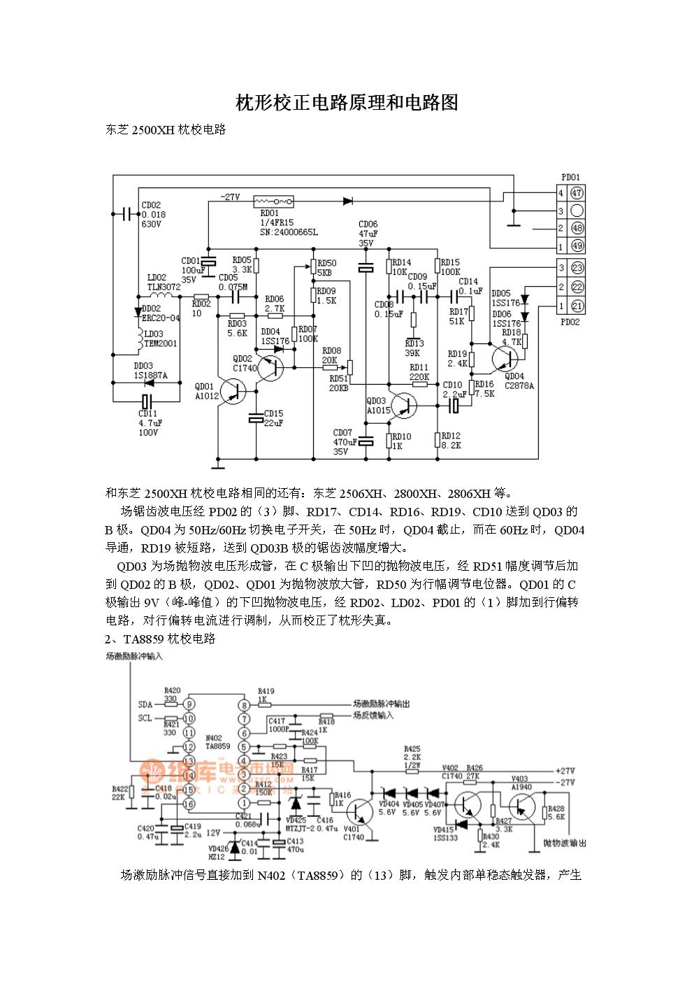 枕形校正电路原理和电路图.doc