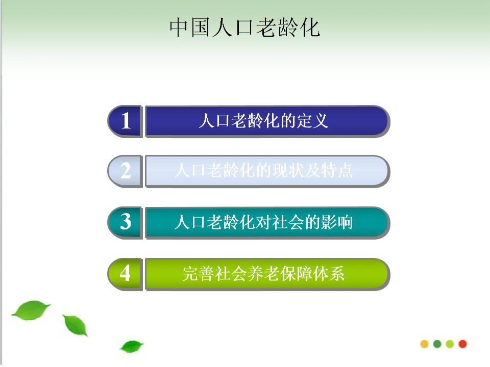 人口老龄化新幻灯片.ppt