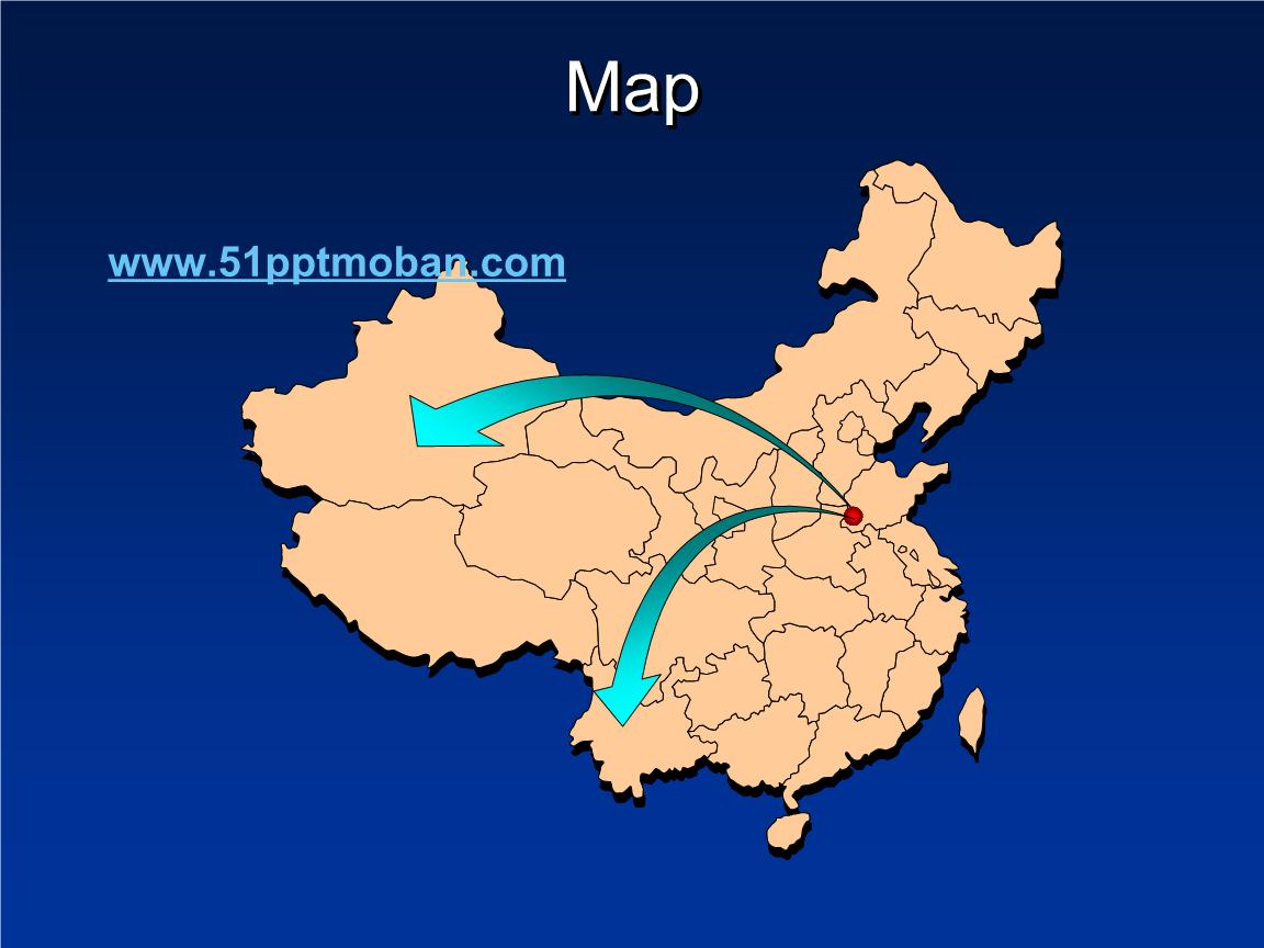 中国地图各省地图市辖区地图ppt地图素材.ppt