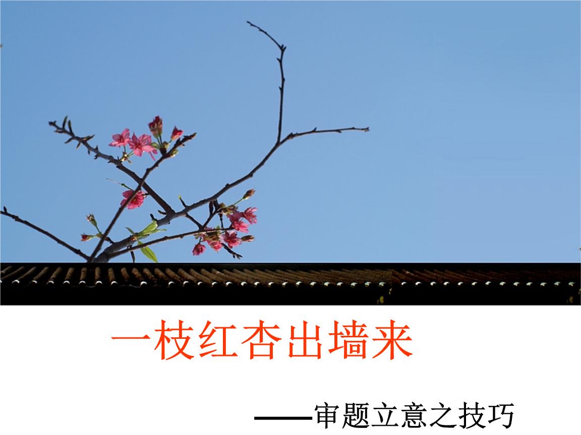 作文系列训练一一枝红杏出墙来.ppt