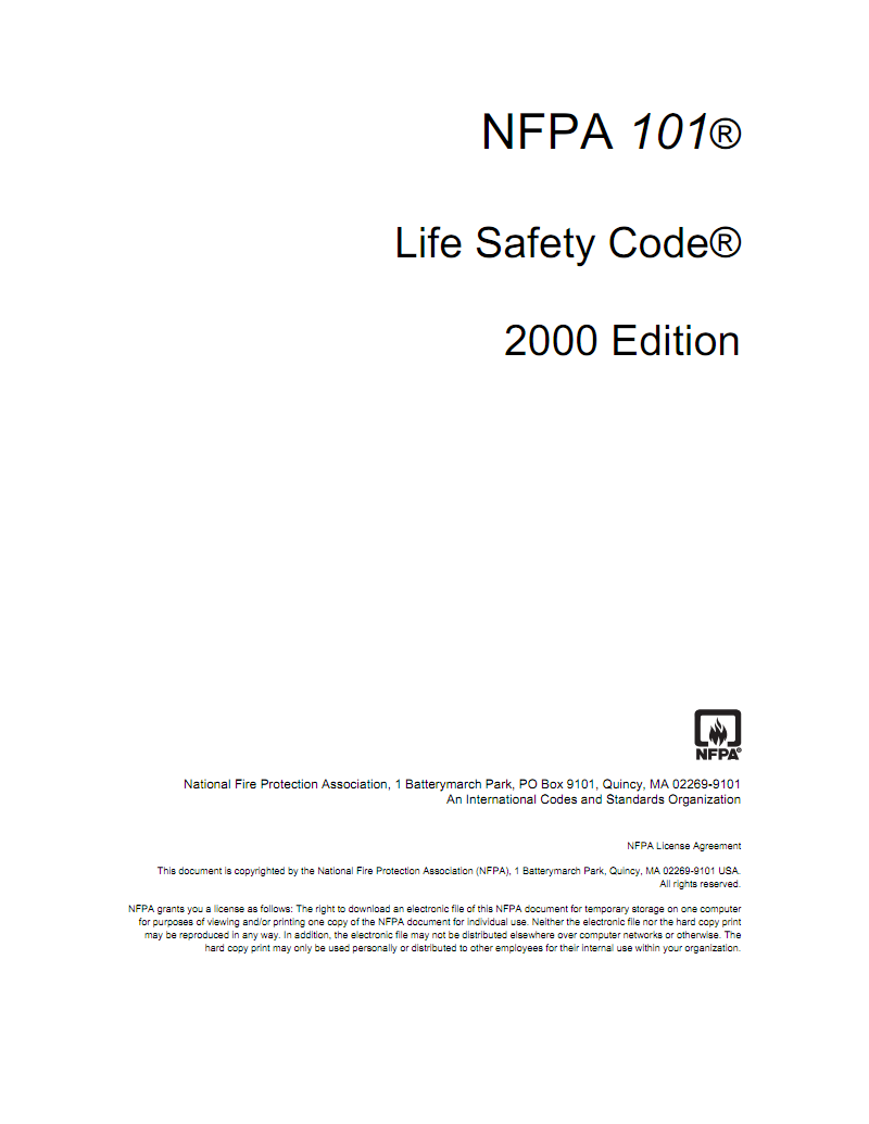 nfpa 101 life safety code 2015 edition pdf