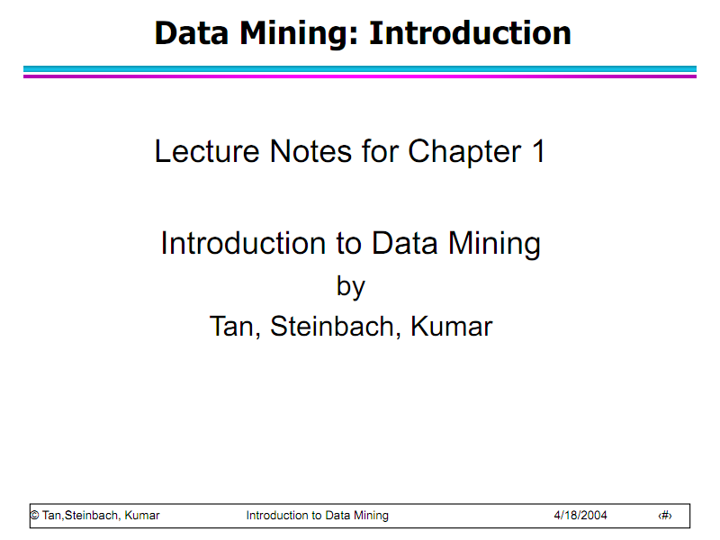 Introduction To Data Mining 原版ppt Pdf